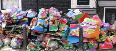 Gekleurd vuilnis