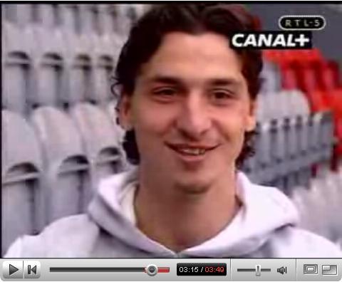 Klik op Zlatan om filmpje te zien